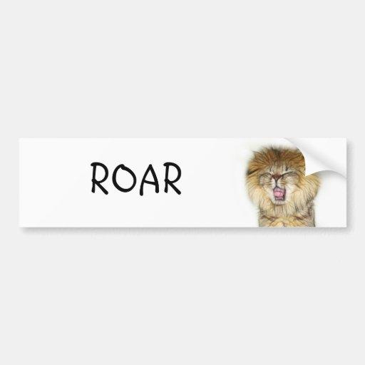 Roaring lion kitten bumper sticker
