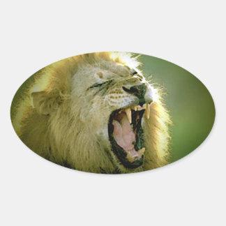 Roaring Lion Oval Sticker