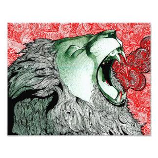 Roaring Lion Art Photo