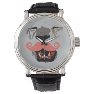 Roaring Lion With Mustache Watch