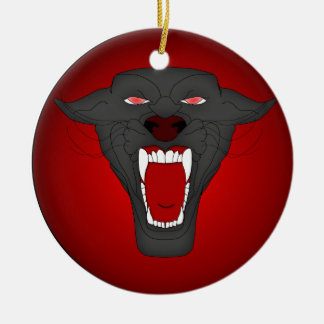 Roaring Panther Ornament