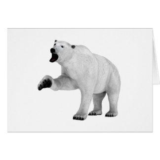 Roaring Polar Bear Greeting Card