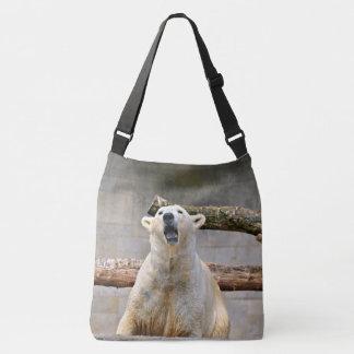 Roaring Polar Bear Crossbody Bag