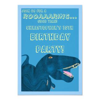 Roaring Rex (Birthday) 13 Cm X 18 Cm Invitation Card