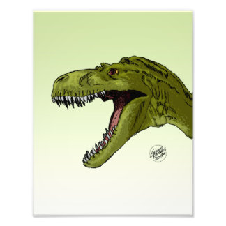 Roaring T-Rex Dinosaur by Geraldo Borges Art Photo