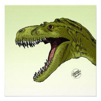Roaring T-Rex Dinosaur by Geraldo Borges Personalized Invite