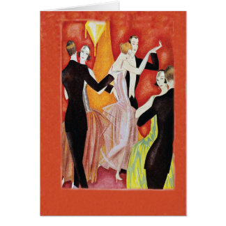 Roaring Twenties Dancing Couples Card