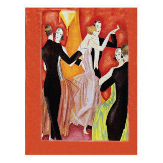 Roaring Twenties Dancing Couples Postcard