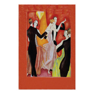 Roaring Twenties Dancing Couples Poster