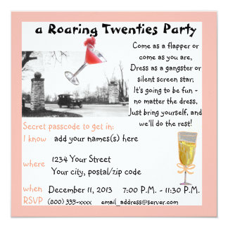 Roaring Twenties Gala 13 Cm X 13 Cm Square Invitation Card