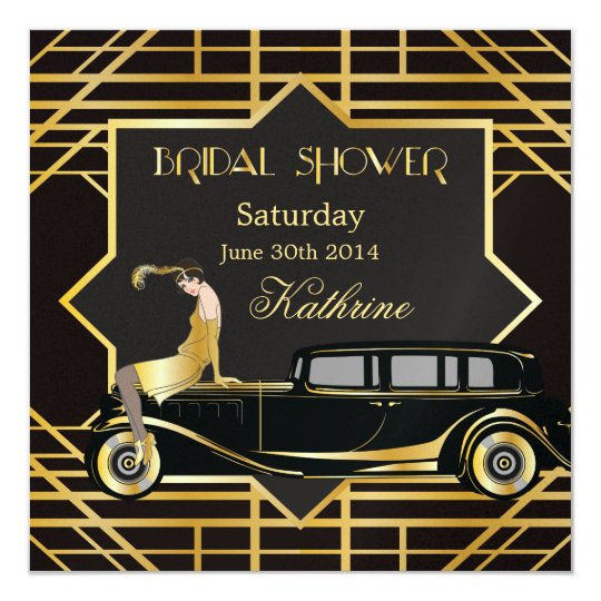 Roaring Twenties Gatsby Style Bridal Shower Card