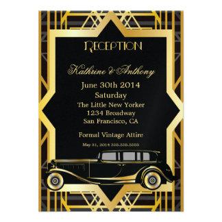 Roaring Twenties Gatsby Style Reception Custom Announcement