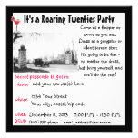 Roaring Twenties Prohibition Theme Party Personalised Invite