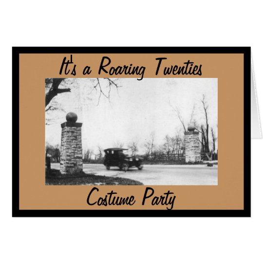 Roaring Twenties Theme Costume Party Card