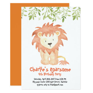 Roarsome Birthday Invitation