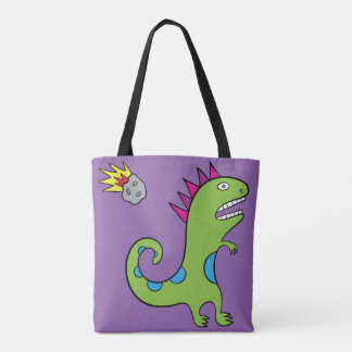 Roary the T-Rex - All-Over-Print Tote Purple