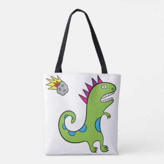 Roary the T-Rex - All-Over-Print Tote White