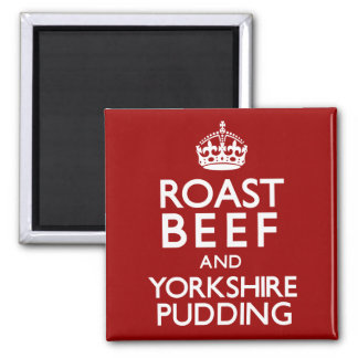 Roast Beef and Yorkshire Pudding Square Magnet