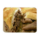 Roast beef sandwich with creamy goat cheese rectangular magnets