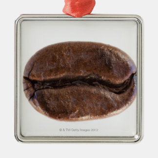 Roast coffee bean, studio shot Silver-Colored square decoration
