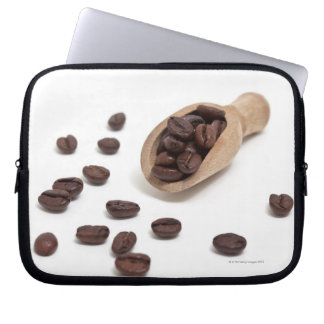 roast coffee beans with scoop laptop sleeve