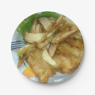 Roasted Chicken Breasts With Fried Potatoes 7 Inch Paper Plate