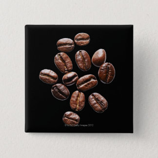 Roasted coffee beans 15 cm square badge