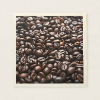 Roasted Coffee Beans pattern Paper Napkin