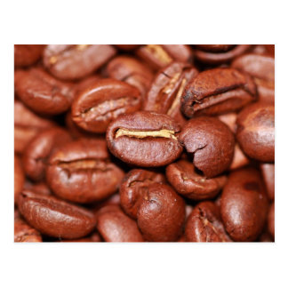 Roasted Coffee Beans Postcard