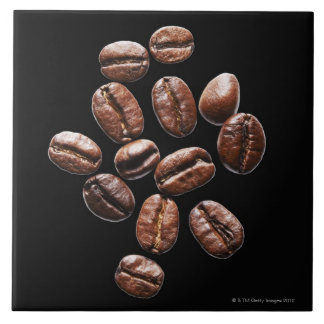 Roasted coffee beans tile