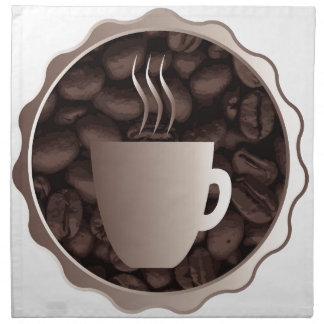 Roasted Coffee Cup Sign Cloth Napkins