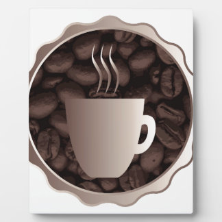 Roasted Coffee Cup Sign Plaque