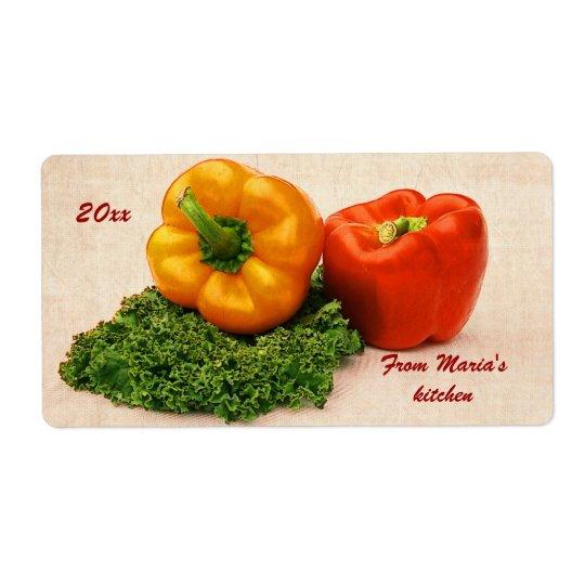 roasted peppers canning labels