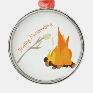 Roasting Marshmellows Christmas Ornament