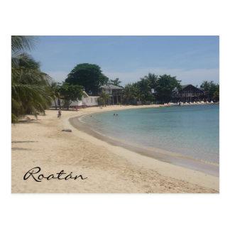 roatán beach postcard