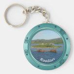 Roatan Porthole Basic Round Button Key Ring