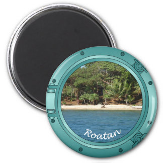 Roatan Porthole 6 Cm Round Magnet