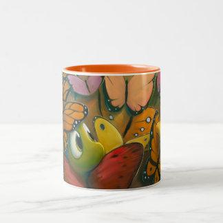 Rob Kaz Mug, Butterflauge Two-Tone Mug