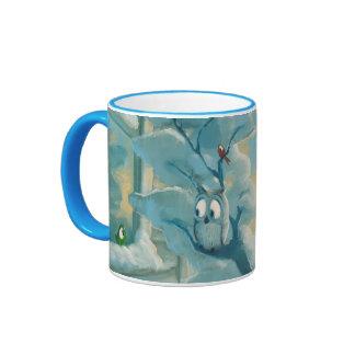 Rob Kaz Mug, Hoo Are You, colored handle Ringer Mug
