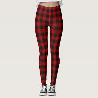 Rob Roy Tartan Red & Black Leggings
