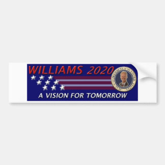 Rob Williams 2020 Vision for Tomorrow Car Bumper Sticker