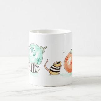 Robber Mice Christmas Heist Coffee Mug