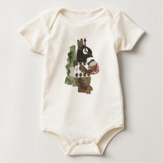 Robber Squirrel Organic Babygro Baby Bodysuit