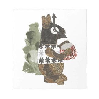 Robber Squirrel Plaque Notepad