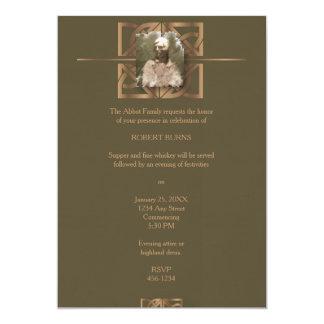 Robbie Burns Celtic 13 Cm X 18 Cm Invitation Card