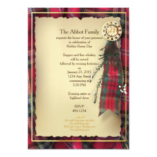 Robbie Burns Formal Invitation