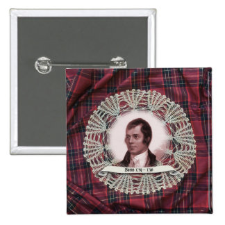 Robbie Burns Highland square pin