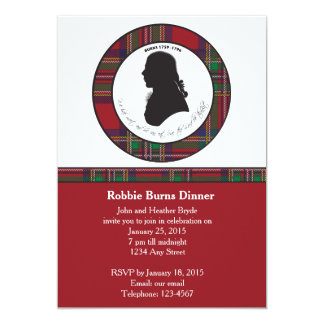 Robbie Burns Silhouette Invitation
