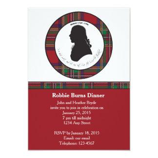 Robbie Burns Silhouette Invitation