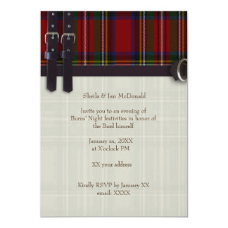 Robbie Burns Traditional Card